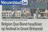 Nieuwsblad 14 juni 2016 Belgian Quo Band naar UK